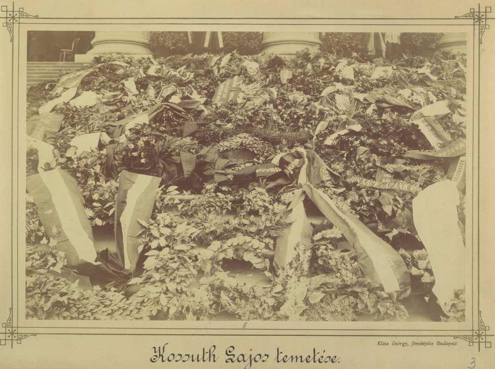 A megemlékezés koszorúi Kossuth Lajos temetésén. 1894. március 30. Fortepan/Budapest Főváros Levéltára HU.BFL.XV.19.d.1.04.003.