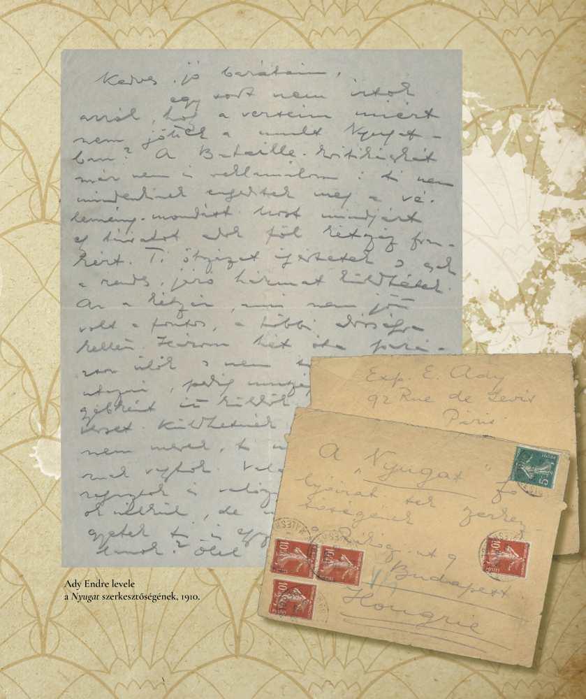 Ady Endre Párizsból küldött levele a Nyugat szerkesztőségének, 1910. – Kézirattár Levelestár