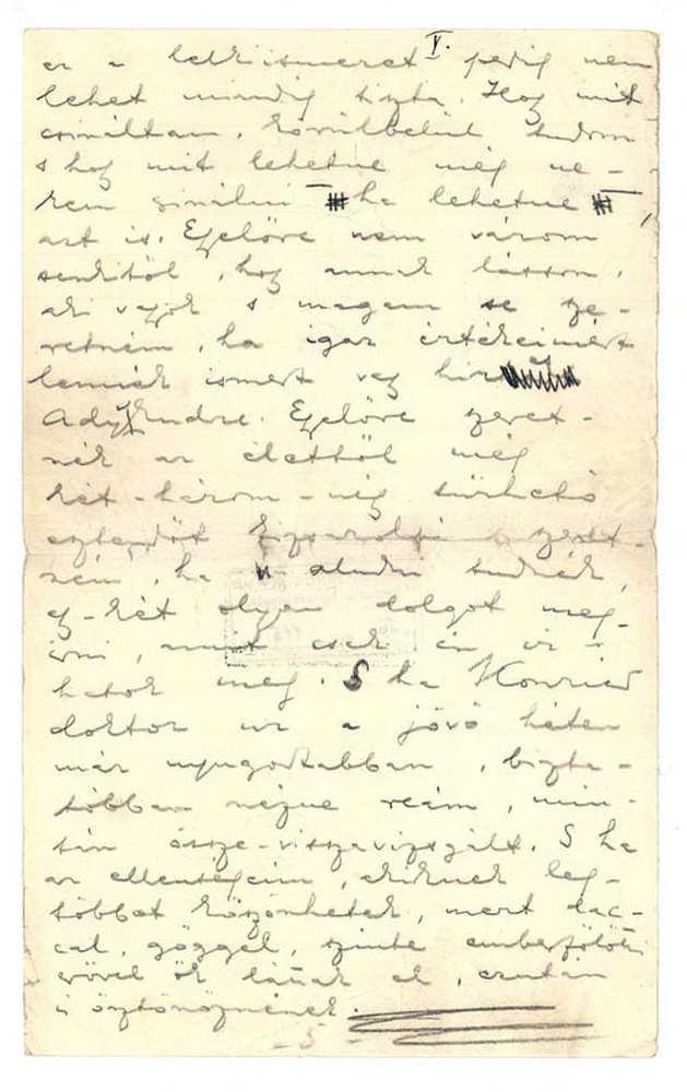 Ady Endre önéletrajza, 1909. 5. oldal (autográf) – Kézirattár: Analekta 103.