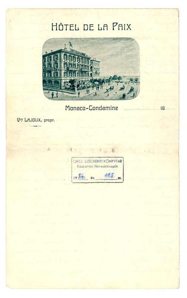 Ady Endre önéletrajza, 1909. 6. oldal (autográf) – Kézirattár: Analekta 103.