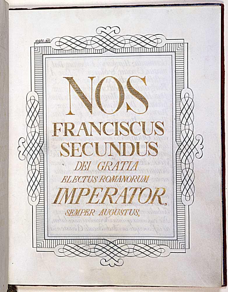 Részlet Széchényi ajándékozó okleveléből (1802. november 25.)