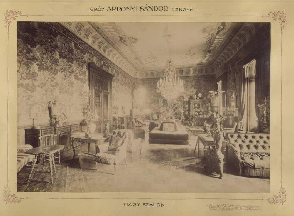 Apponyi Sándor kastélya, Lengyel. 1895 és 1899 között. Forrás: Fortepan/Budapest Főváros Levéltára. HU.BFL.XV.19.d.1.11.041.
