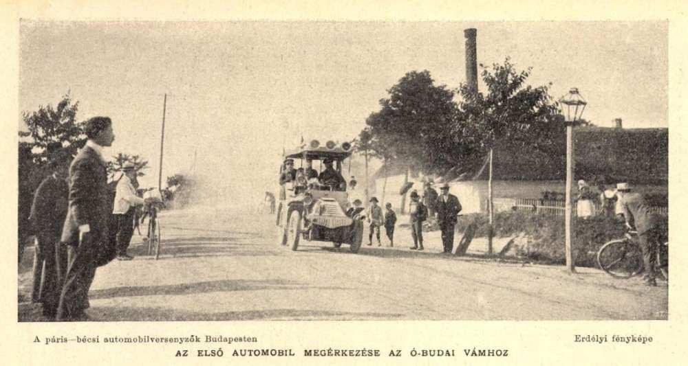 Az első automobil megérkezése. In. Új Idők, 8. évf., 1902. 27–52. sz., 57. – Törzsgyűjtemény http://nektar.oszk.hu/hu/manifestation/2528544