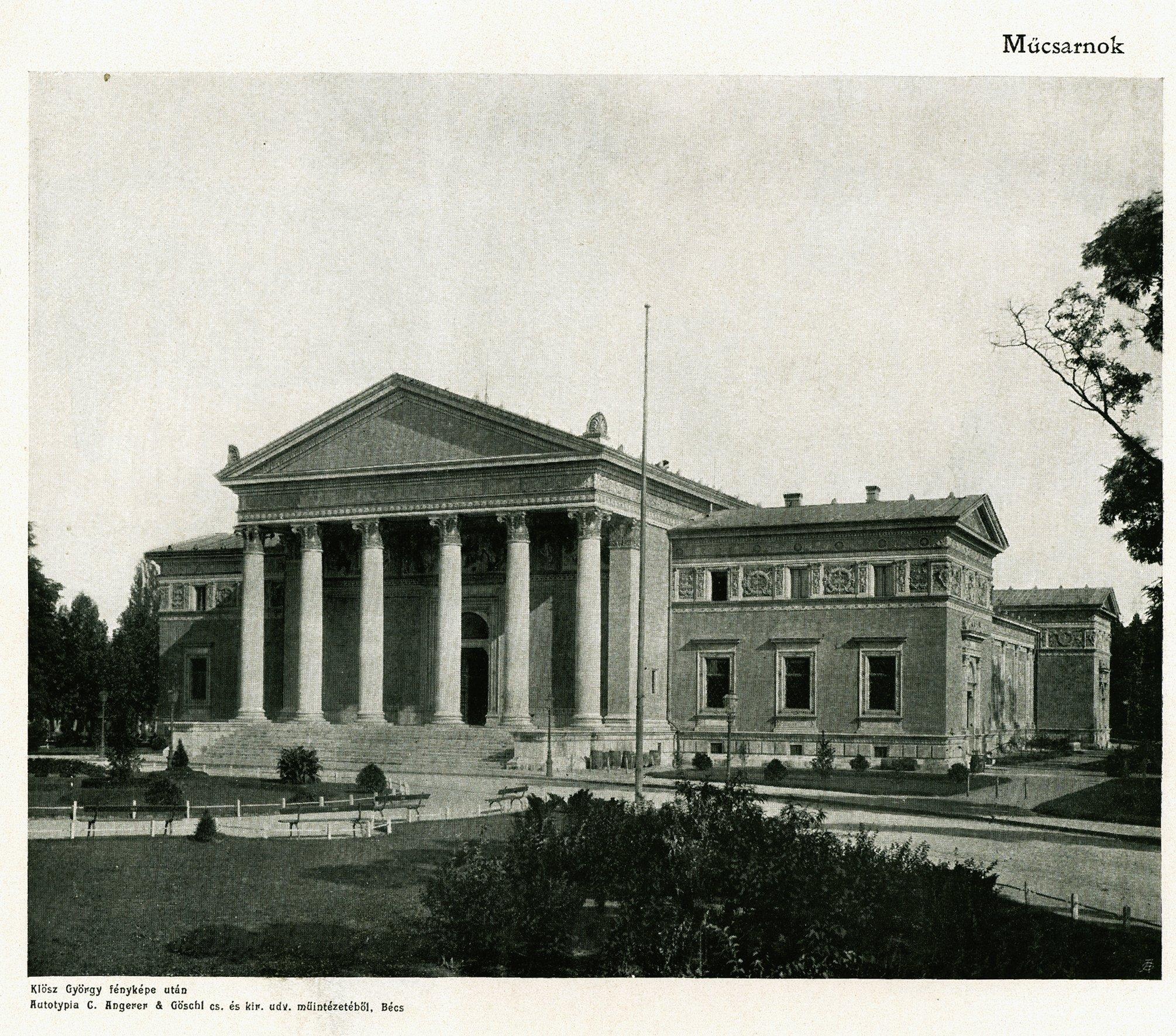 Az 1896-ban épült Műcsarnok épülete – Digitális Képarchívum