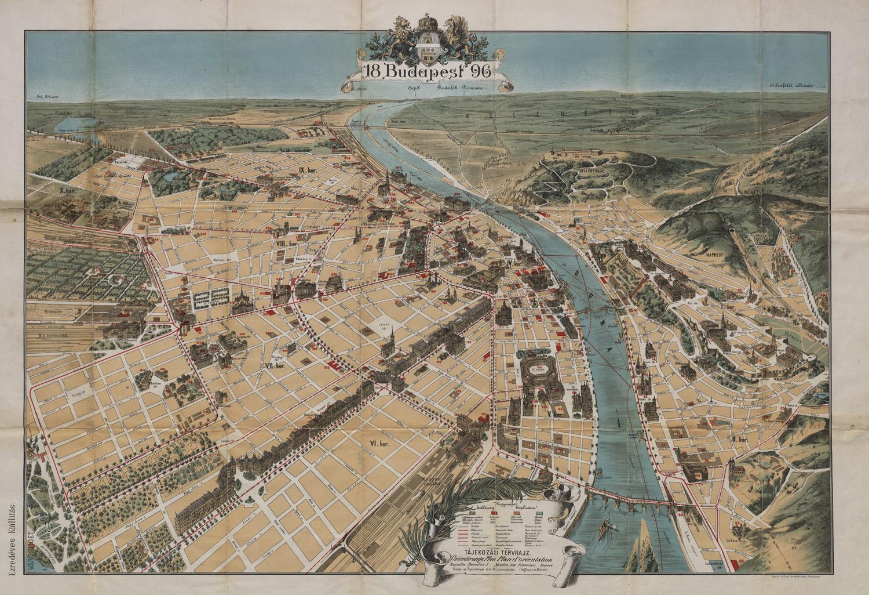 budapest térkép 1896 Miért éppen 1896 ban volt Millennium? – Ezredéves álmok 3. rész   OSZK budapest térkép 1896