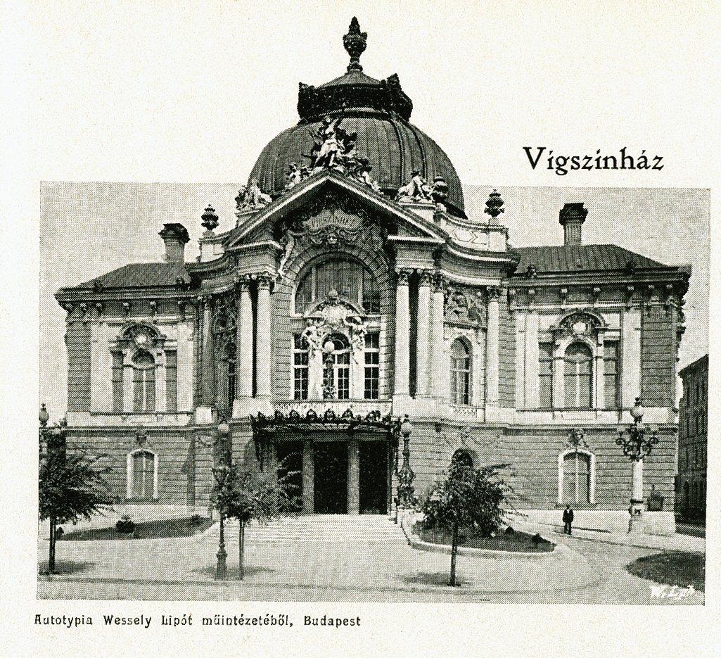 Az 1896-ban épült Vígszínház épülete – Digitális Képarchívum