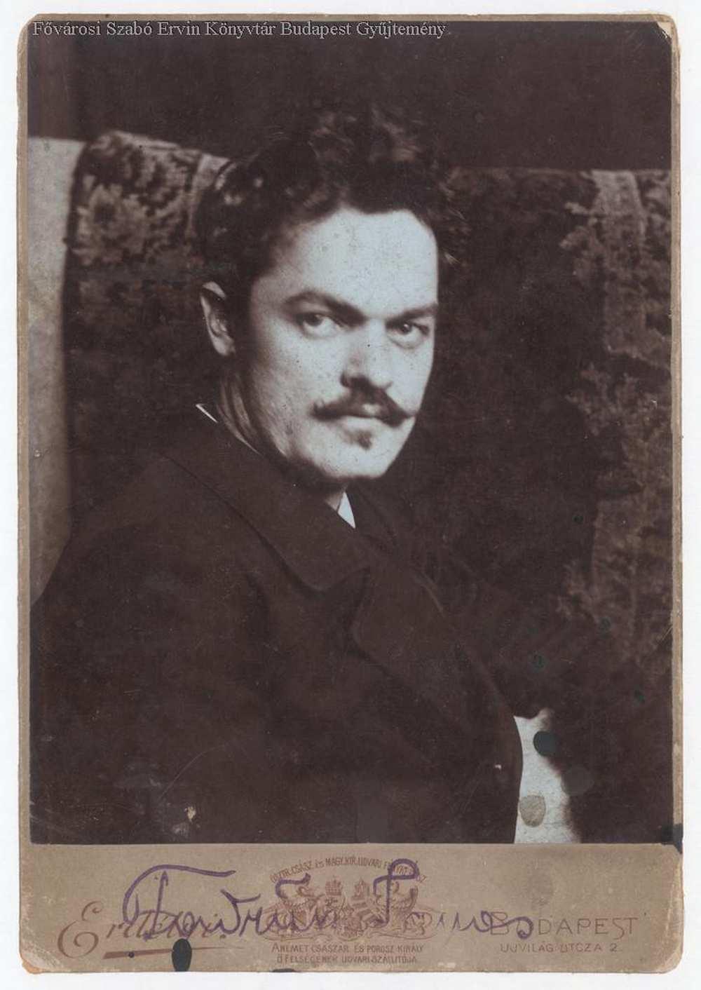 Fadrusz János szobrászművész portréja. Budapest Képarchívum, Fővárosi Szabó Ervin Könyvtár, 040005