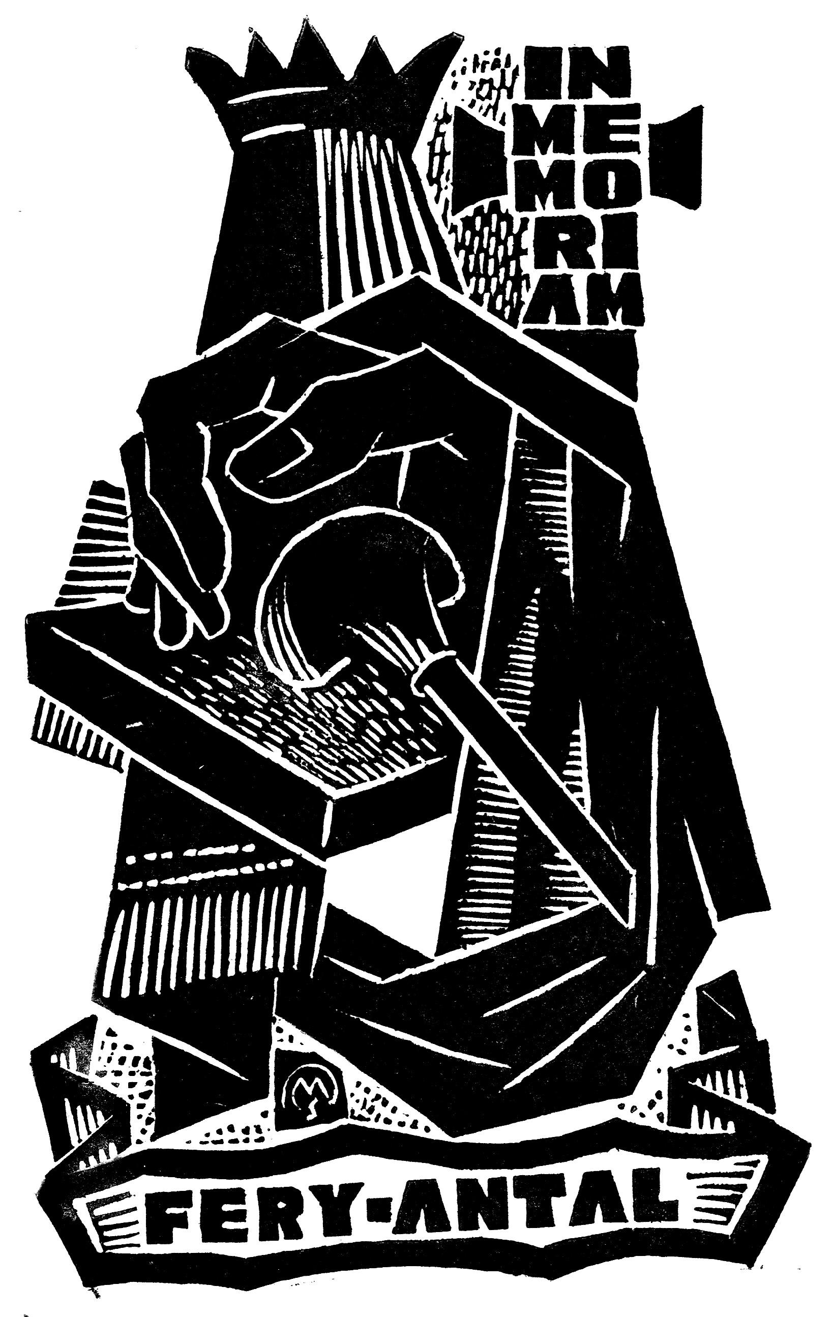 In memoriam Fery Antal (Csiby/246, OSZK Plakát- és Kisnyomtatványtár)