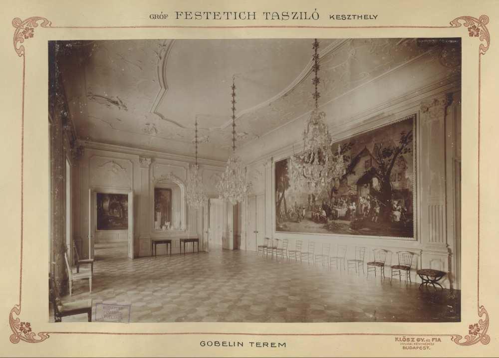 Festetics-kastély, Keszthely. 1895 és 1899 között. Forrás: Fortepan/Budapest Főváros Levéltár.HU.BFL.XV.19.d.1.11.137.