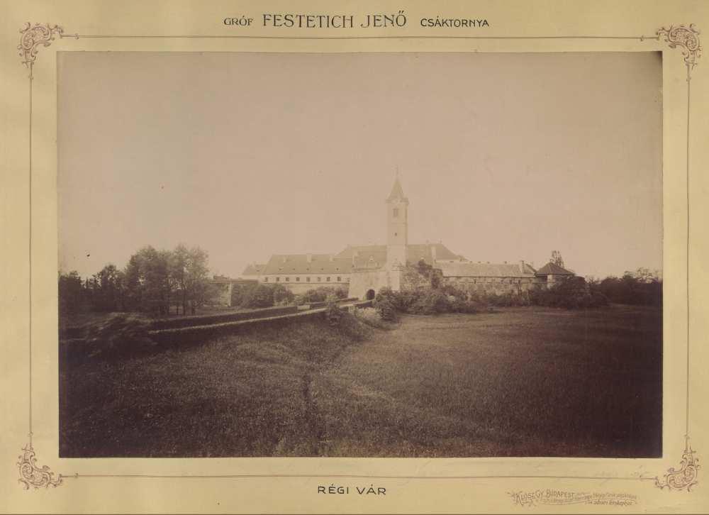 A Festetics család vára, Csáktornya,1895 és 1899 között. Forrás: Fortepan/ Budapest Főváros Levéltára. HU.BFL.XV.19.d.1.11.030.