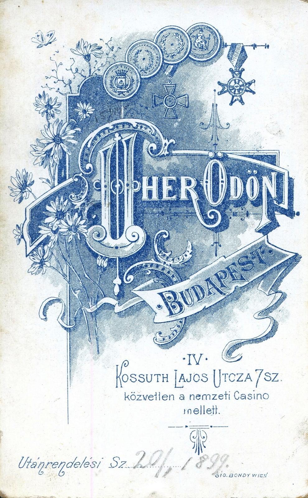 Uher Ödön műterme, Kossuth Lajos utca, 1899. Fortepan, 90403. Adományozó: Mészöly Leonóra https://fortepan.hu/hu/photos/?id=90403