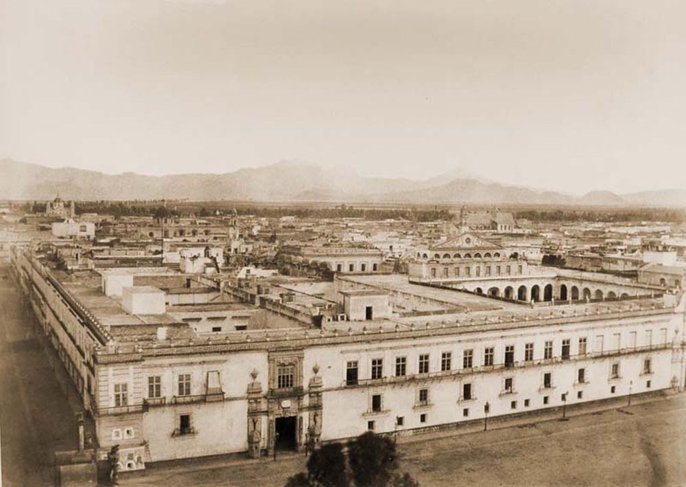 Mexikóváros keleti nézete a székesegyház tornyáról. Jelzet: FTD 130 – Történeti Fénykép- és Videótár