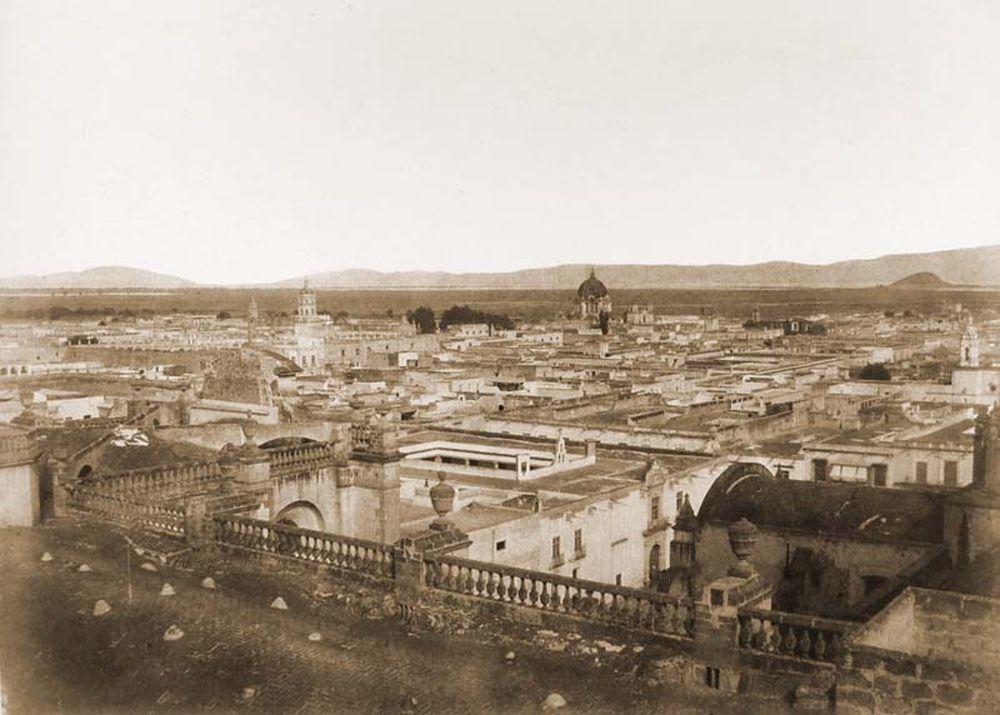 Mexikóváros keleti látképe a székesegyház tornyáról. Jelzet: FTD 132 – Történeti Fénykép- és Videótár