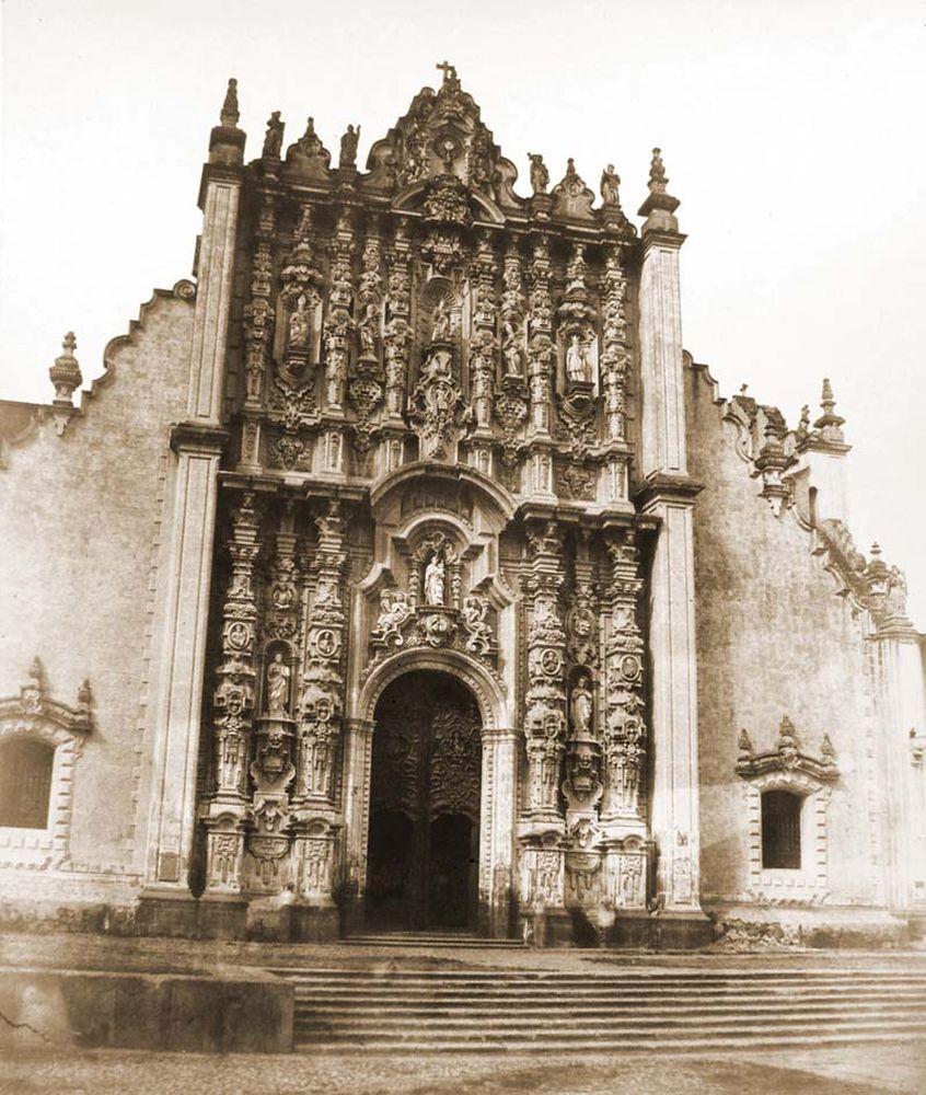 A székesegyház nyugati mellékkapuja, Sagzanio portálja. (Mexikó) Jelzet: FTD 134 – Történeti Fénykép- és Videótár