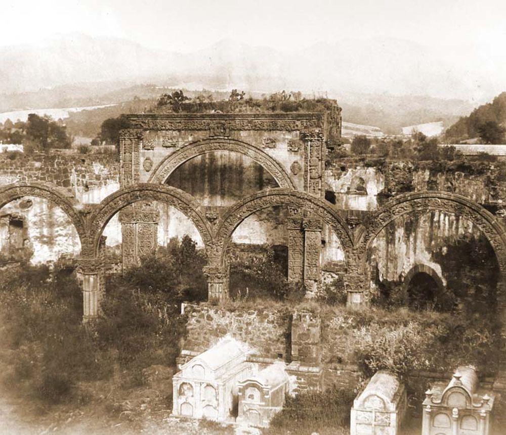 Tlalmanalcoi temető egy kolostor romjaival Cortez idejéből. (Mexikó). Jelzet: FTD 145– Történeti Fénykép- és Videótár