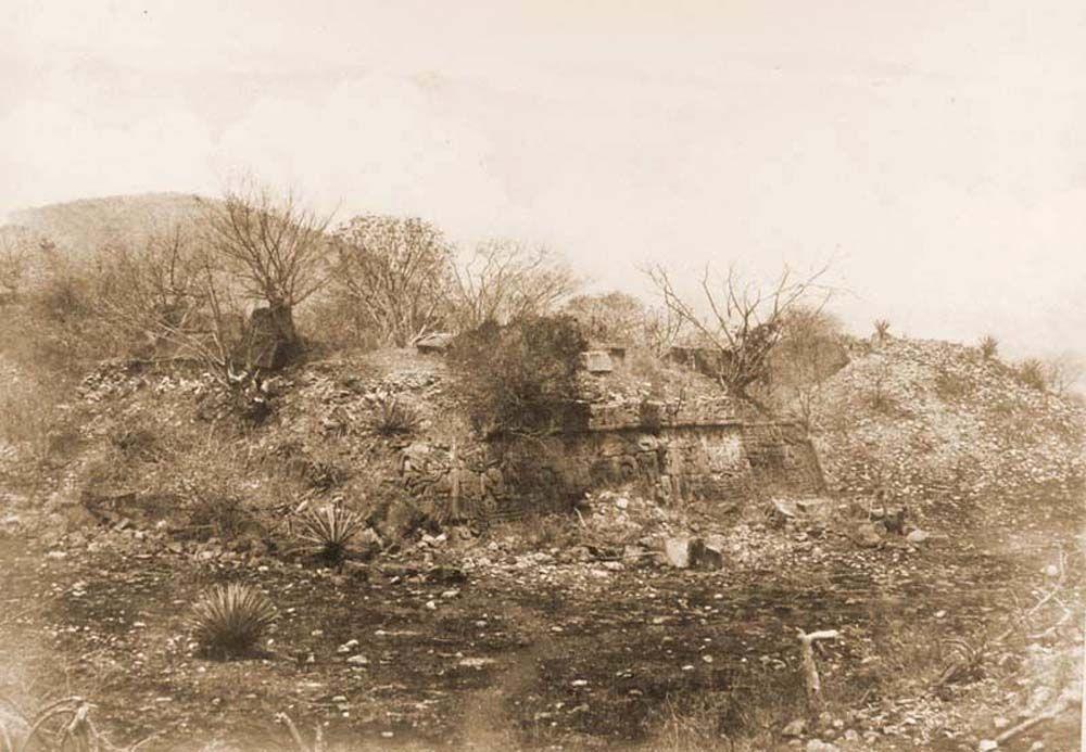 A xochicalcoi azték teo-cali rom látképe (Mexikó). Jelzet: FTD 153– Történeti Fénykép- és Videótár