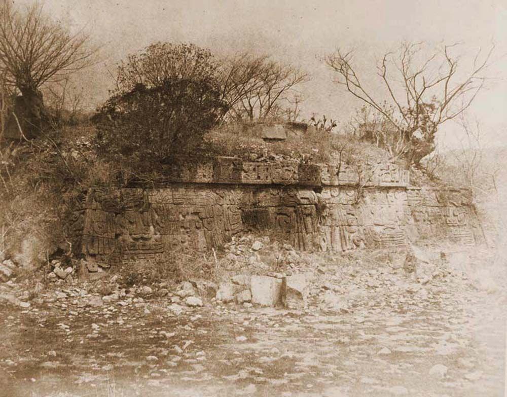 A xochicalcoi azték teo-cali rom keleti oldala (Mexikó). Jelzet: FTD 154 – Történeti Fénykép- és Videótár