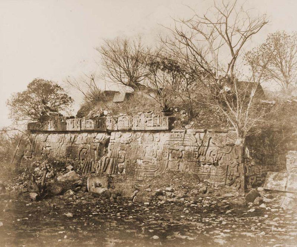 A xochicalcoi azték teo-cali rom keleti oldala (Mexikó). Jelzet: FTD 155 – Történeti Fénykép- és Videótár