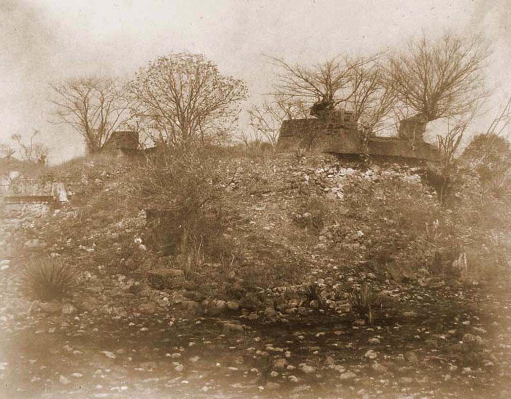 A xochicalcoi azték teo-cali rom déli oldala. (Mexikó). Jelzet: FTD 156 – Történeti Fénykép- és Videótár