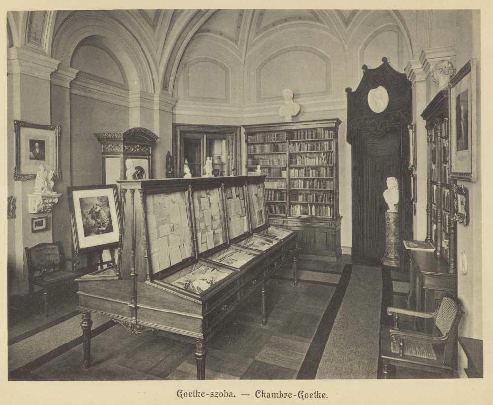 Goethe-szoba. In. Erdélyi Mór: Magyar Tudományos Akadémia, Budapest, [Erdélyi M.], [1900 körül]. – Törzsgyűjtemény http://nektar.oszk.hu/hu/manifestation/3089103