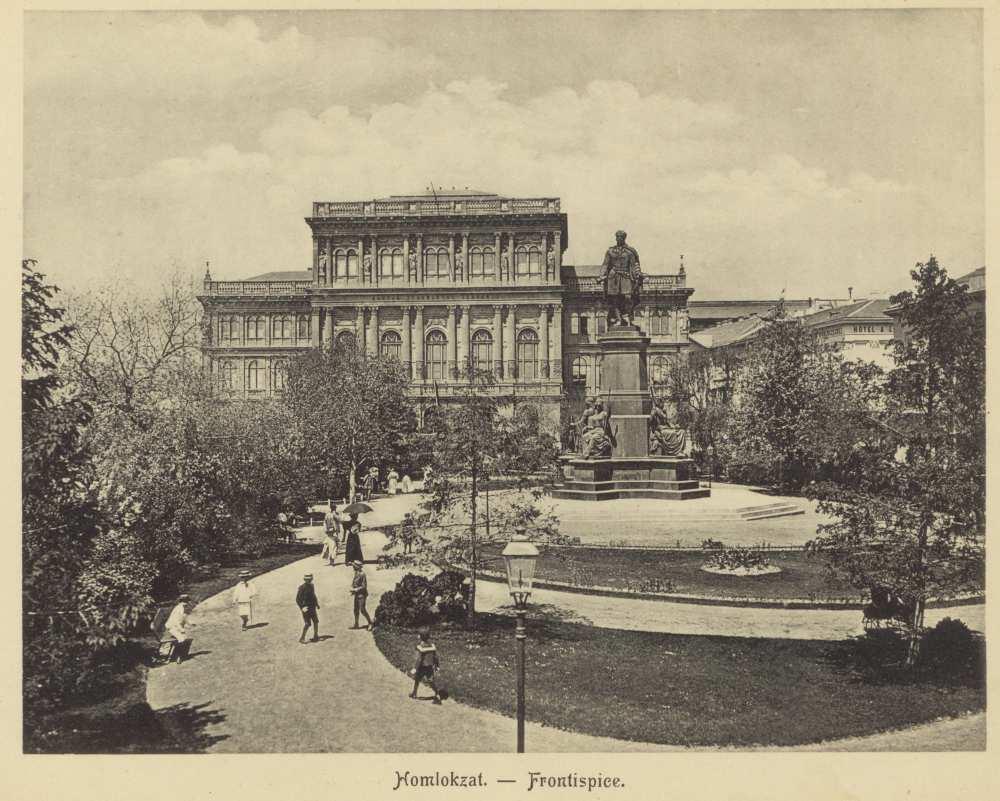 Homlokzat. In. Erdélyi Mór: Magyar Tudományos Akadémia, Budapest, [Erdélyi Mór], [1900 körül]. – Törzsgyűjtemény http://nektar.oszk.hu/hu/manifestation/3089103