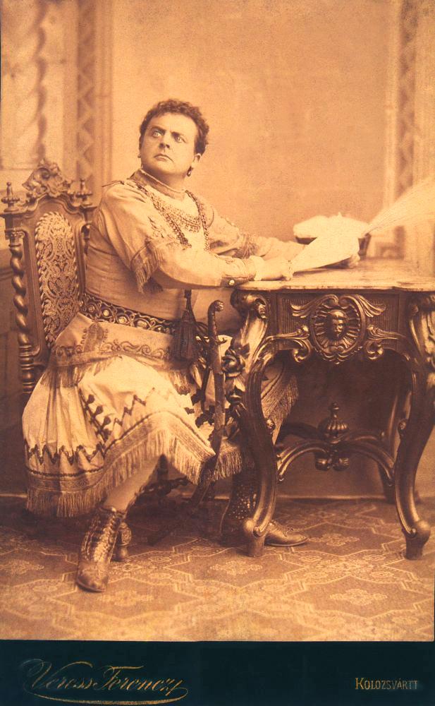 Ecsedi Kovács Gyula mint Othello (1873, Kolozsvár) – Színháztörténeti és Zeneműtár. Jelzet: KB 5058/6
