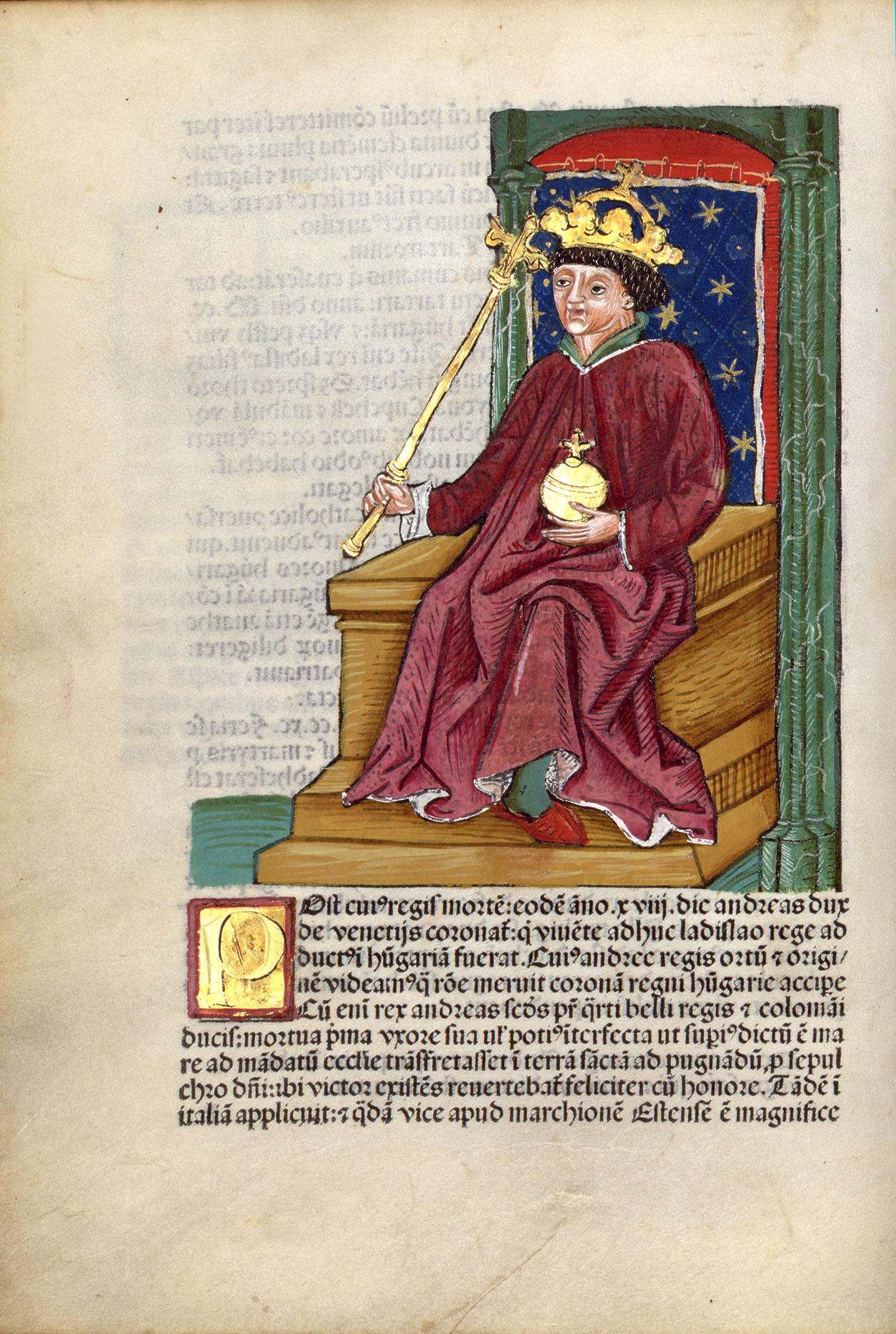Thuróczi János: Chronica Hungarorum <br />1488, Theobald Feger, Erhard Ratdolt. Augsburg, Pergamen.