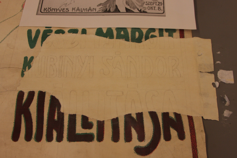A folt alapszínének hozzáigazítása a plakát alapszínéhez <br />Vészi Margit kiállítása ... Könyves Kálmán szept. 21-okt. 8.