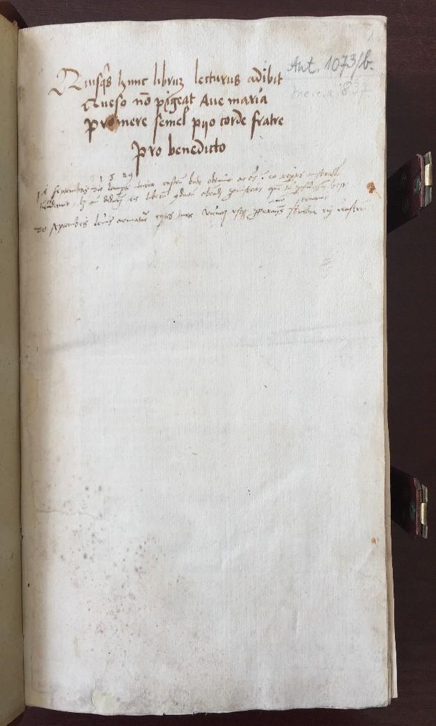 Inc. 1073b. Az első levél rectója