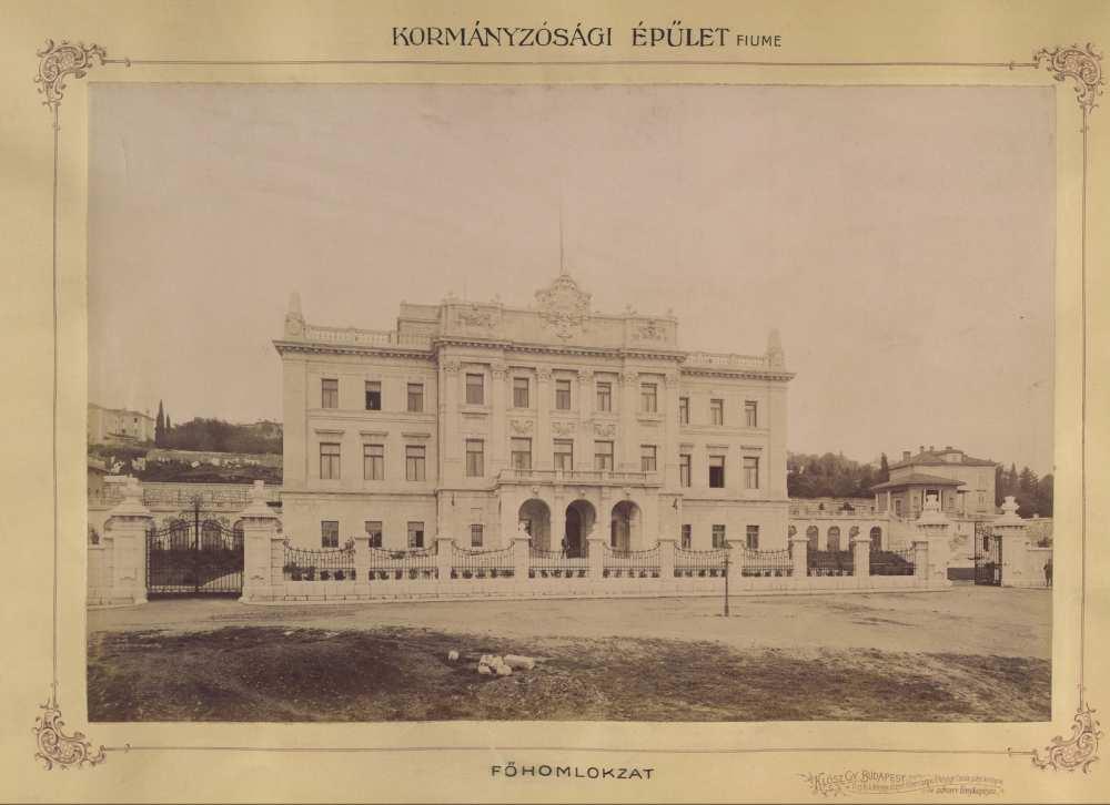 József Károly Lajos főherceg kastélya, Fiume. 1897 és 1899 között. Forrás: Fortepan/ Budapest Fővárosa Levéltár. HU.BFL.XV.19.d.1.11.020.
