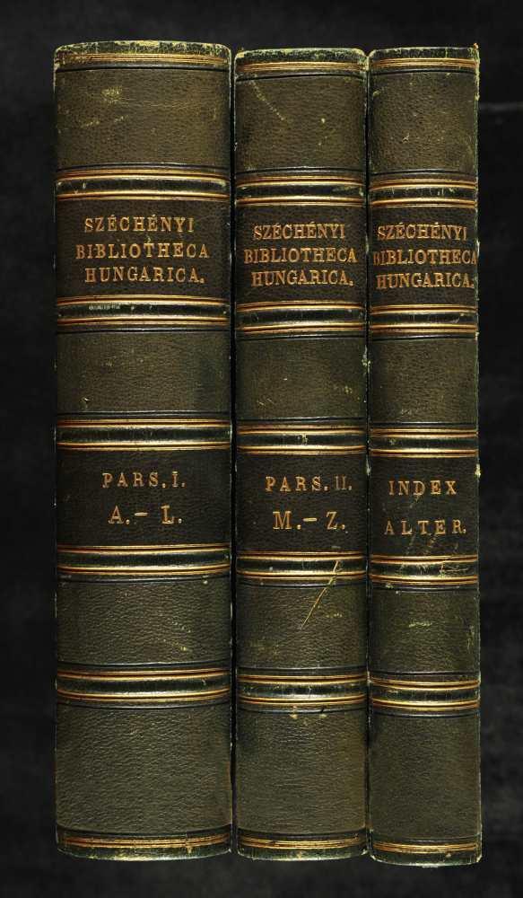 Széchényi könyvgyűjteményének első nyomtatott katalógusa, 1799–1800. Belső címlap.