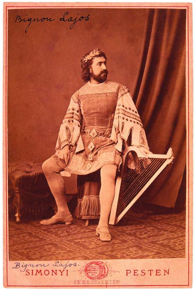 Bignio Lajos mint Wolfram Richard Wagner Tannhauser című operájában. Fénykép: Simonyi Antal – Színháztörténeti Tár, Jelzet: KB 5893/2