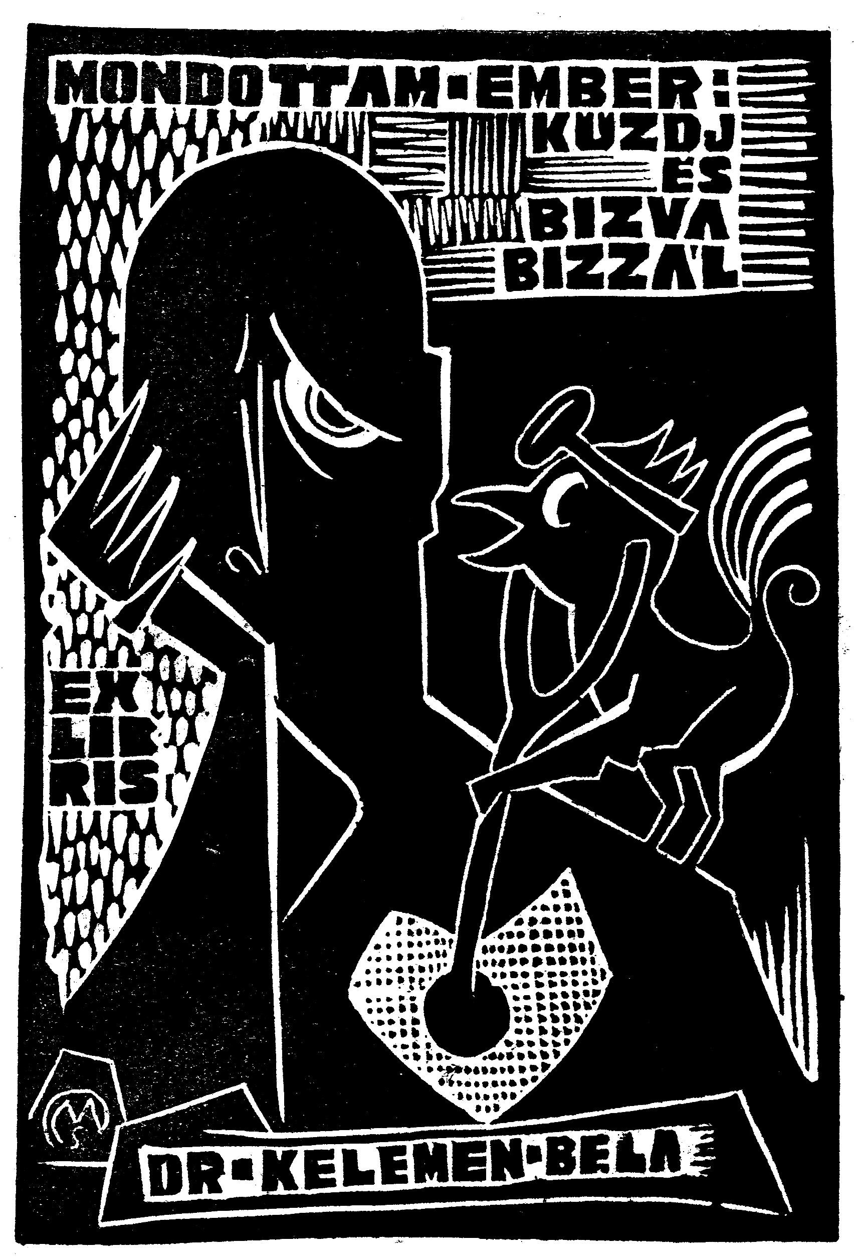 Ex libris Dr. Kelemen Béla (Csiby/71, OSZK Plakát- és Kisnyomtatványtár)