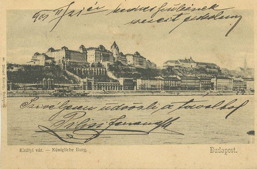 Királyi vár. Budapest. Fotó: Divald Károly. Képeslap – Térkép-Plakát-és Kisnyomtatványtár. Jelzet: Bp 1003