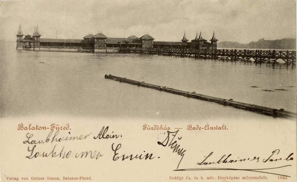 Fürdőház, Balatonfüred – Térkép-, Plakát- és Kisnyomtatványtár. Jelzet: Klap 45 e Balatonfüred/201