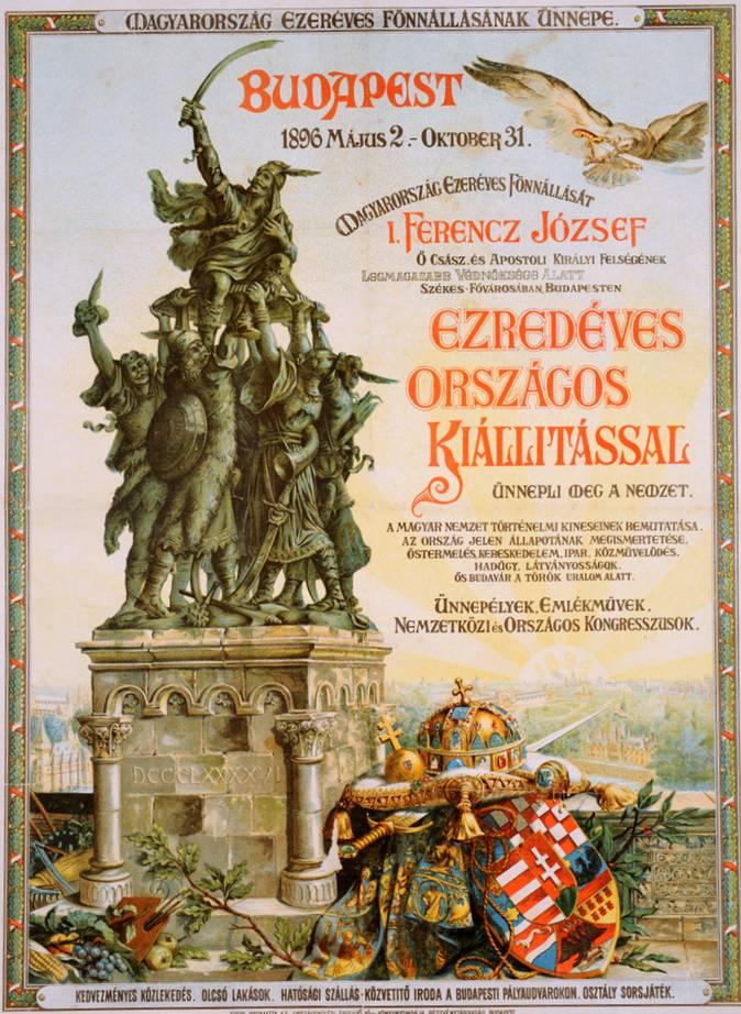 A borítóján látható kis dombormű Árpád fejedelem pajzsra emelését ábrázolja, úgy ahogy ez az Ezredéves kiállítás plakátján is megjelenik.