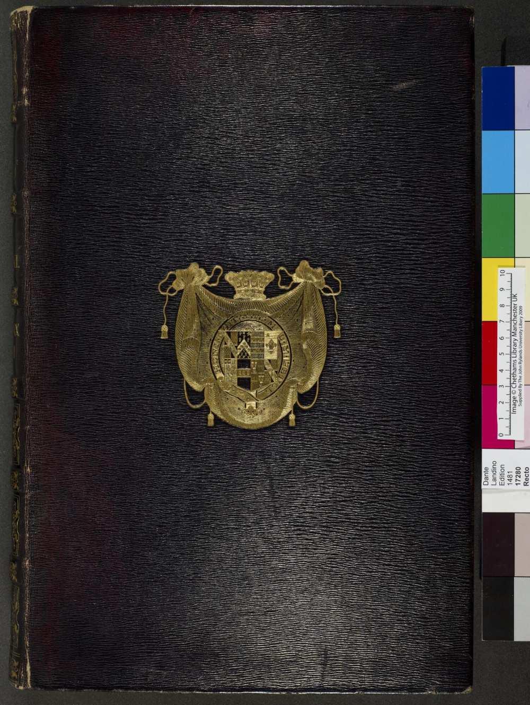 La Commedia (Comm. Cristophorus Landinus). (17280). A kép forrása: University of Manchester, Digital Collection. https://www.digitalcollections.manchester.ac.uk/view/PR-INCU-17280/1