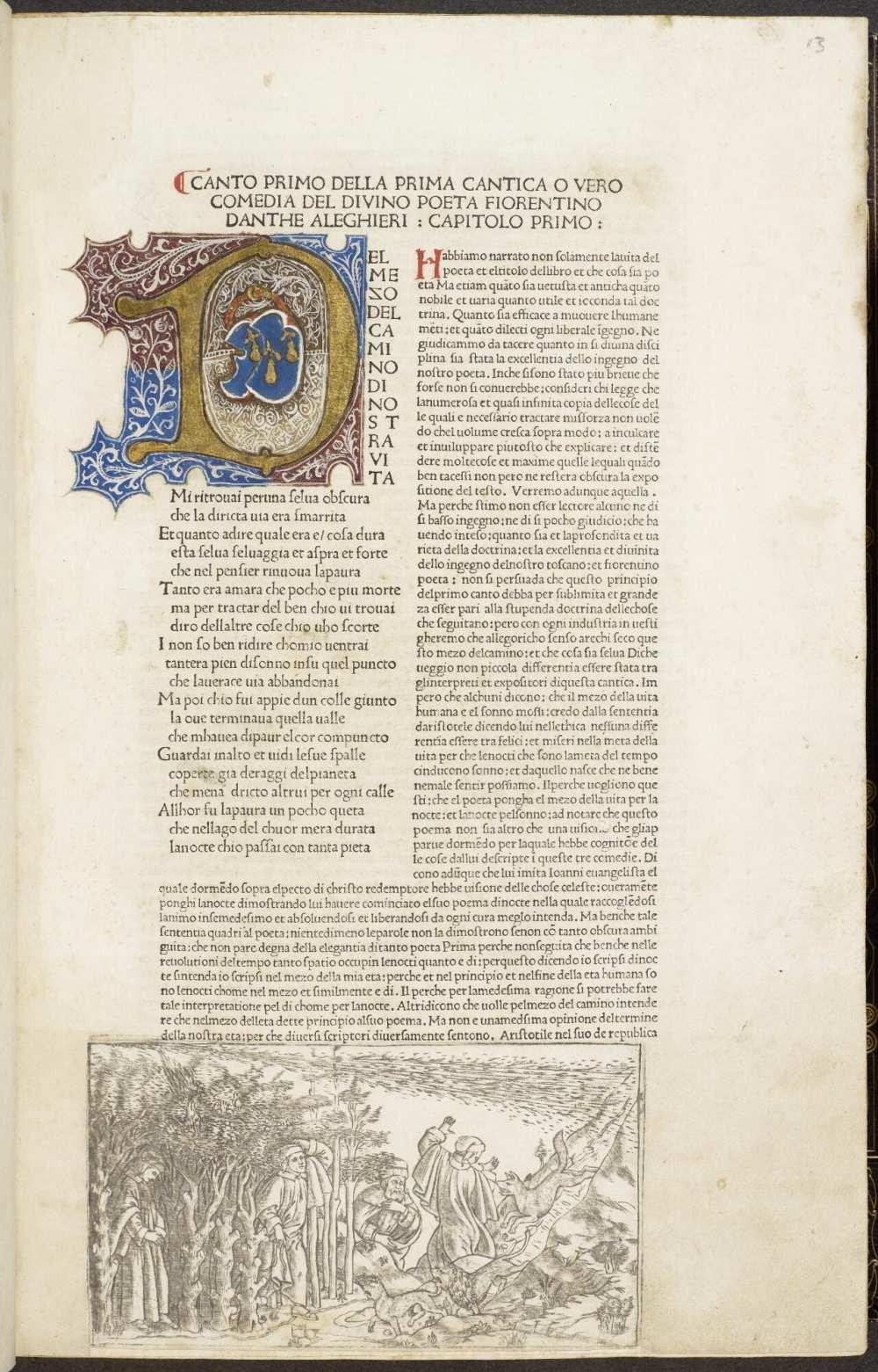 La Commedia (Comm. Cristophorus Landinus). (17280). A kép forrása: University of Manchester, Digital Collection. https://www.digitalcollections.manchester.ac.uk/view/PR-INCU-17280/33