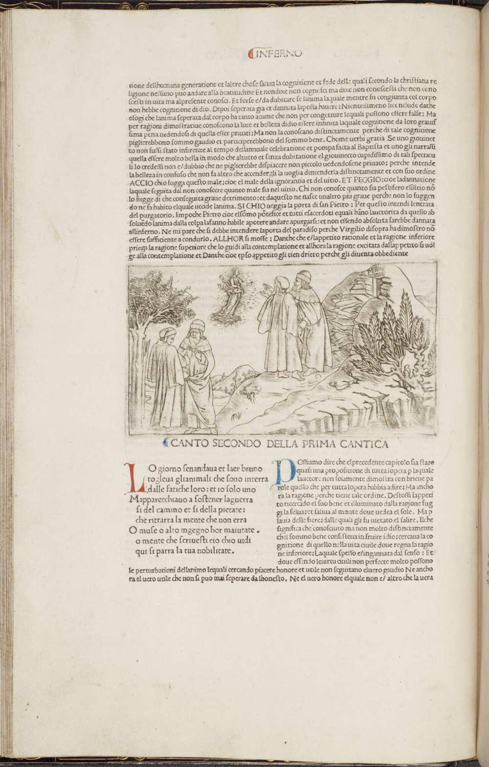 La Commedia (Comm. Cristophorus Landinus). (17280). A kép forrása: University of Manchester, Digital Collection. https://www.digitalcollections.manchester.ac.uk/view/PR-INCU-17280/52