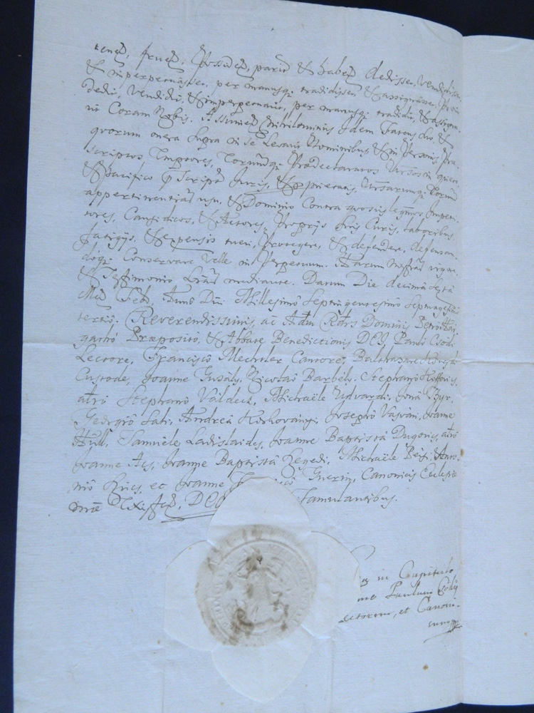 A felsőőri (ma Oberwart, Burgenland, Ausztria) Seper/Sejper család <br />18-19. századi birtoklásra vonatkozó irata