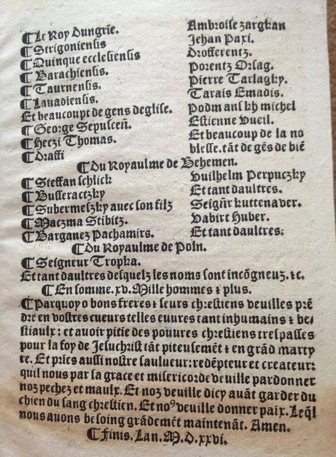 Sensuyuent les faictz du chien insaciable du sang chrestien, quel se nomme Lempereur de Turquie... App. H. 1656