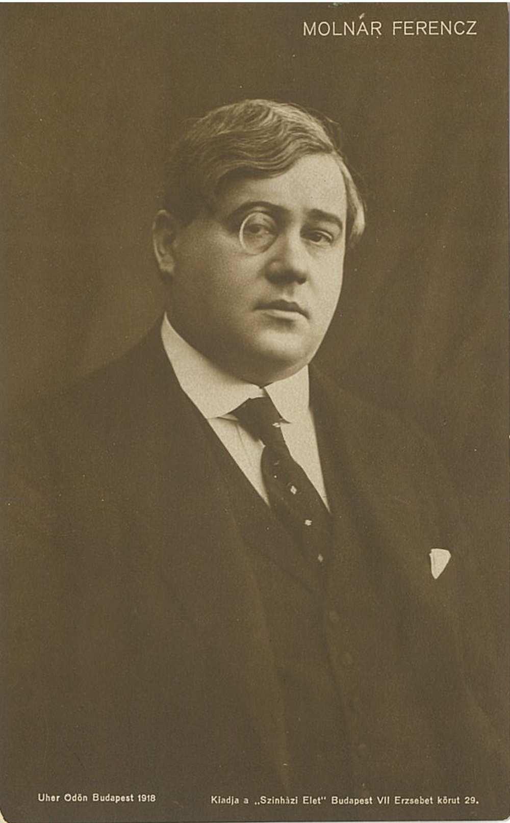 Molnár Ferenc. Portré, 1918. Jelzet: KA 1.710 – Színháztörténeti és Zeneműtár