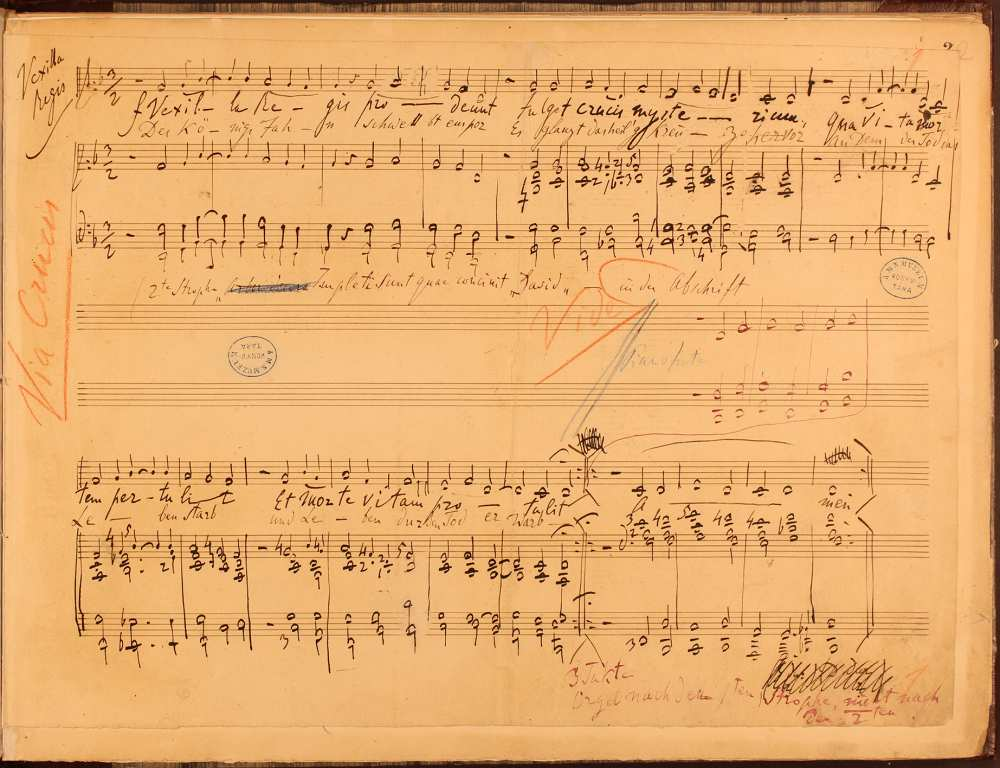 Via Crucis, autográf kézirat, 1878. – Zeneműtár, Ms. mus. 14.