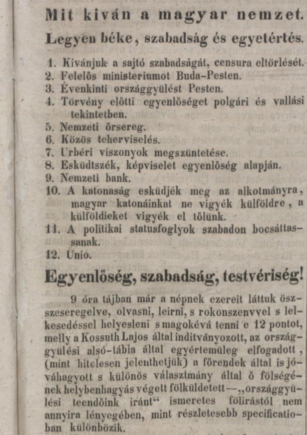 Nemzeti Újság,1848. március 16. 660. sz. – Törzsgyűjtemény