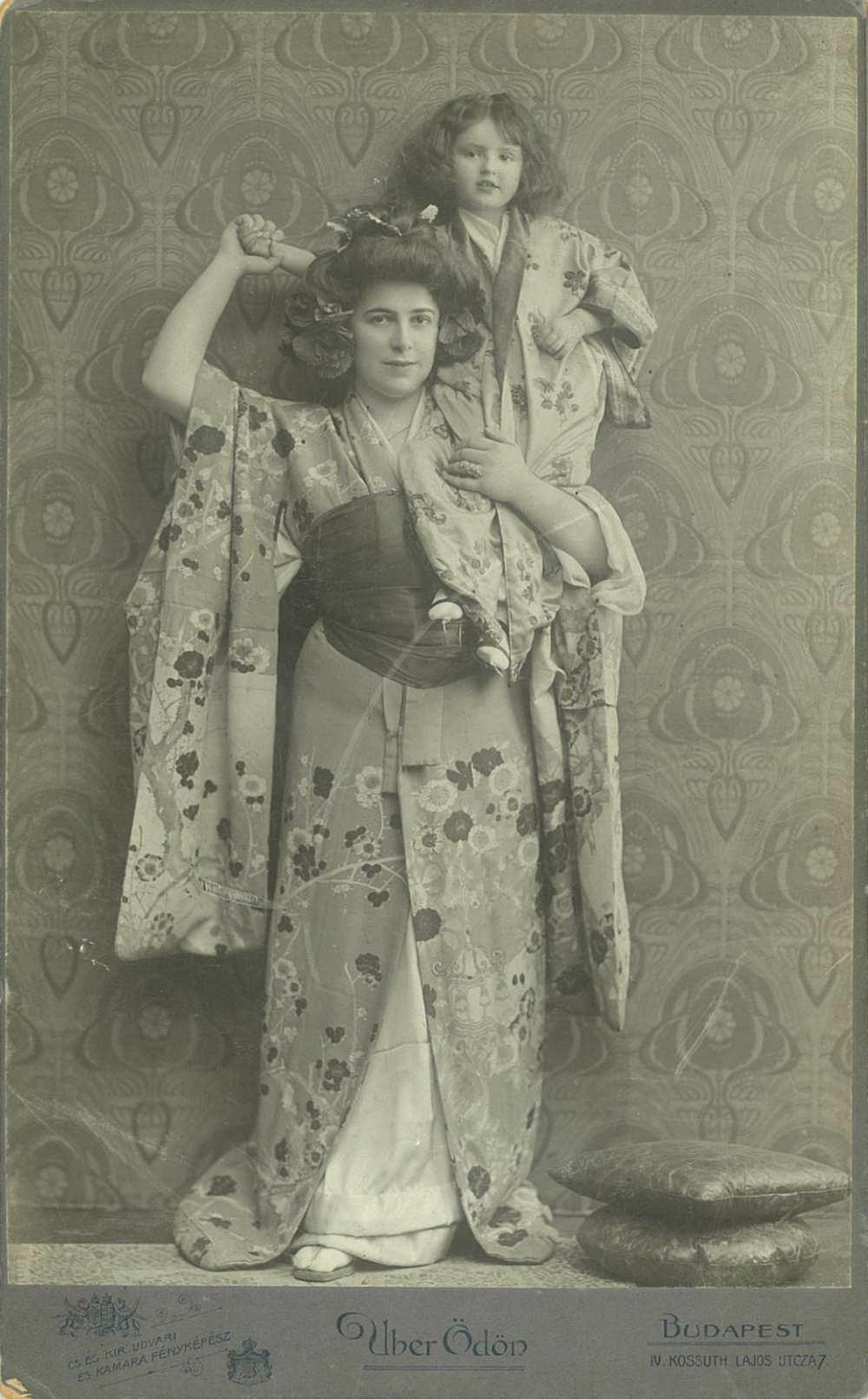 Benkő Etelka mint Pillangókisasszony. Szerepkép, 1906. Jelzet: KB 21.094 – Színháztörténeti és Zeneműtár