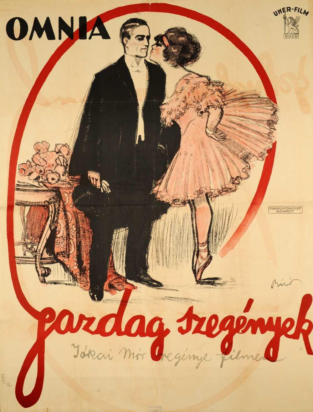 Gazdag szegények. Filmplakát, 1917. – Térkép-, Plakát-és Kisnyomtatványtár, Jelzet: Pkg 1917/14.