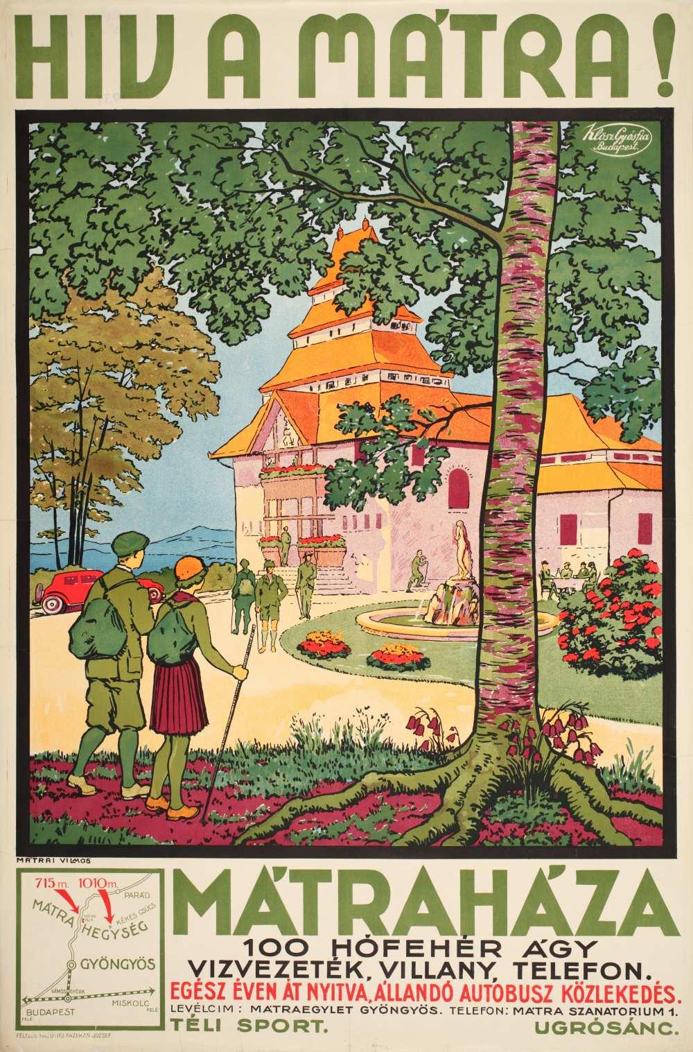 Mátrai Vilmos: Hív a Mátra (1931). Jelzet: PKG.1931/127 – Térkép-, Plakát- és Kisnyomtatványtár http://nektar.oszk.hu/hu/manifestation/2791108