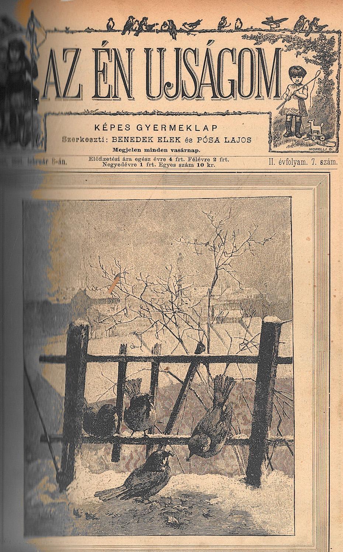 Az Én Ujságom. Képes gyermeklap, 1891. február 8. Címlap. – Törzsgyűjtemény