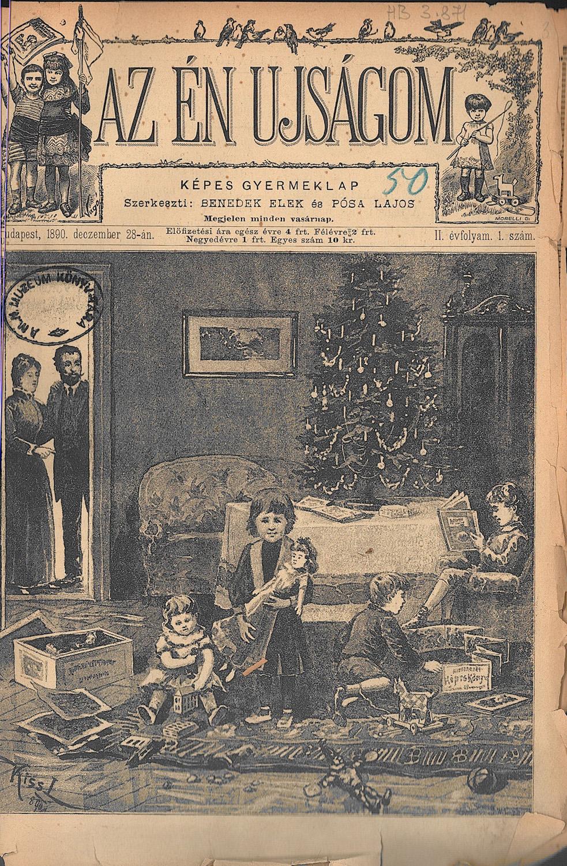 Az Én Ujságom. Képes gyermeklap, 1890. december 28. Címlap – Törzsgyűjtemény