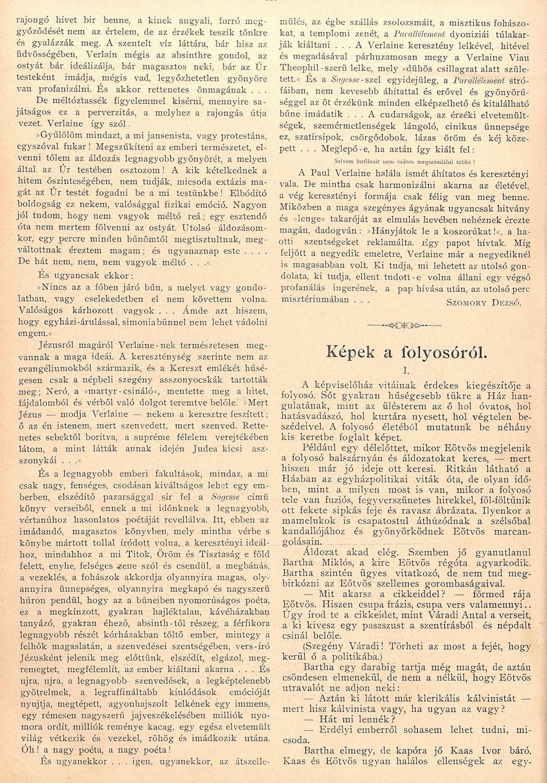 Képek a folyosóról, Január 26. (5. sz.) 110-111. sz.<br />Uj Idők. Szépirodalmi, művészeti és társadalmi képes hetilap 1896. (II. évfolyamából):